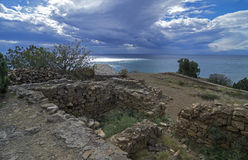 The ruins of the ancient fortress. Royalty Free Stock Photos
