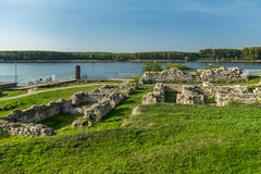 Ruins of ancient fortress Durostorum, near Silistra - Bulgaria. Ruins of ancient fortress Durostorum, near Silistra Stock Image