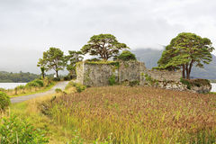 Ruins of an ancient fortress on Lough Leane Lower Royalty Free Stock Image