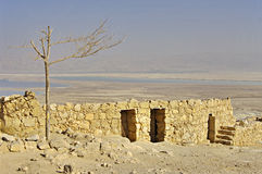 Ruins of ancient fortress Masada, Israel. Royalty Free Stock Photo