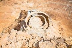 Ruins of ancient fortress Masada, part of the Northern Palace. Royalty Free Stock Images