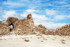 Ruins of ancient fortress Massada Royalty Free Stock Photography