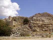 Ruins of ancient fortress, Upper Galilee, Israel. Concept: travel, history and nature Stock Photo