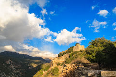 Ruins of ancient fortress, Upper Galilee, Israel. Concept: travel, history and nature Stock Photos