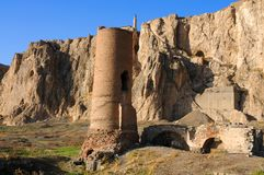 Ruins of old fort in Van, Eastern Turkey. Ruins of ancient fortress in Van, Anatolia, Eastern of Turkey near the border of Armenia royalty free stock images