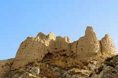Ruins of old fort in Van, Eastern Turkey. Ruins of ancient fortress in Van, Anatolia, Eastern of Turkey near the border of Armenia royalty free stock image