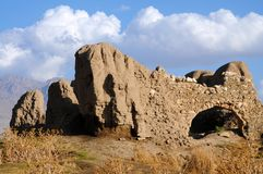 Ruins of old fort in Van, Eastern Turkey. Ruins of ancient fortress in Van, Anatolia, Eastern of Turkey near the border of Armenia stock images