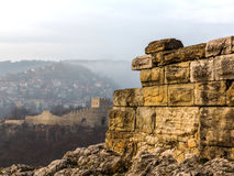 Ruins of an ancient fortress. Veliko Tarnovo, Bulgaria Royalty Free Stock Photos