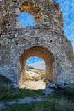 Ruins of ancient fortress wall Stock Images