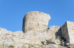 Ruins of ancient fortress wall Royalty Free Stock Images