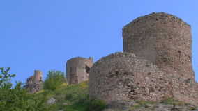 Ruins of ancient fortresses stock video