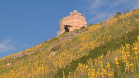 Ruins of ancient fortresses stock video footage