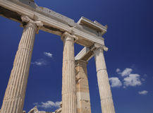 Ruins of ancient Greece. In the summer Royalty Free Stock Images