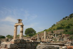 Ruins of the ancient Greek city Ephesus Stock Images