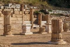 Ruins of the ancient Greek city of Messinia & x28;Messini, Messenia& x29;. Peloponnese, Greece Stock Image