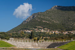 Ruins of the ancient Greek city of Messinia & x28;Messini, Messenia& x29;. Peloponnese, Greece Stock Photography