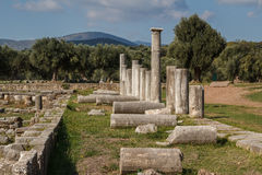 Ruins of the ancient Greek city of Messinia & x28;Messini, Messenia& x29;. Ruins of the ancient Greek city of Messinia & x28;Messini, Messenia& x29 Royalty Free Stock Image