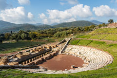 Ruins of the ancient Greek city of Messinia & x28;Messini, Messenia& x29;. Peloponnese, Greece Stock Photo