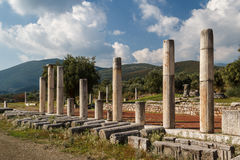Ruins of the ancient Greek city of Messinia & x28;Messini, Messenia& x29;. Ruins of the ancient Greek city of Messinia & x28;Messini, Messenia& x29 Royalty Free Stock Photos