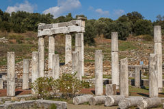 Ruins of the ancient Greek city of Messinia & x28;Messini, Messenia& x29;. Ruins of the ancient Greek city of Messinia & x28;Messini, Messenia& x29 Royalty Free Stock Images