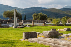 Ruins of the ancient Greek city of Messinia & x28;Messini, Messenia& x29;. Peloponnese, Greece Royalty Free Stock Image