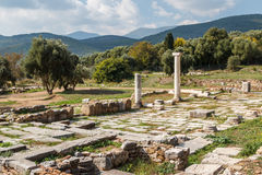 Ruins of the ancient Greek city of Messinia & x28;Messini, Messenia& x29;. Peloponnese, Greece Royalty Free Stock Photos