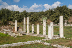 Ruins of the ancient Greek city of Messinia Messini, Messenia Royalty Free Stock Photography