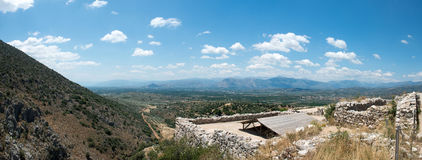 Ruins of the ancient Greek city Mycenae Royalty Free Stock Images