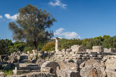 Ruins of the ancient Greek city of Olympia, Peloponnese. Greece Stock Photos