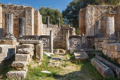 Ruins of the ancient Greek city of Olympia, Peloponnese. Greece Royalty Free Stock Image