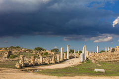 Ruins of ancient Greek city Royalty Free Stock Photography