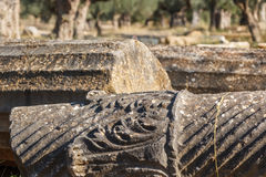 Ruins of the ancient Greek city of Sparta, Peloponnese. Greece Royalty Free Stock Images