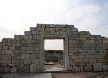 Ruins of ancient Greek civilization in the Crimea Stock Photo