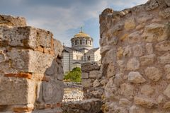 Ruins of ancient Greek colony Khersones Stock Images