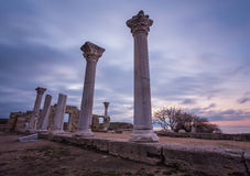 Ruins of ancient greek colony Khersones Stock Photos