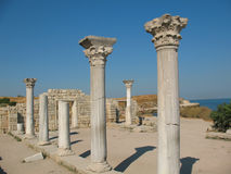 Ruins of ancient greek colony Khersones Royalty Free Stock Photo