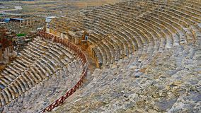 Ruins of ancient Greek-Roman amphitheatre in Myra, old name - Demre, Turkey. Myra is an antique town in Lycia where the Royalty Free Stock Image