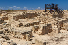 Ruins of the ancient Greek and Roman city of Paphos Stock Image