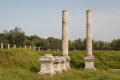 Ruins of the ancient Greek and Roman city of Sardis Royalty Free Stock Photos