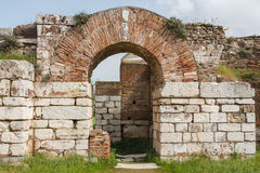 Ruins of the ancient Greek and Roman city of Sardis Royalty Free Stock Photography