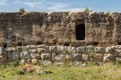 Ruins of the ancient Greek and Roman town Ampurias, near Gerona Royalty Free Stock Image