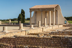 Ruins of the ancient Greek and Roman town Ampurias, near Gerona Stock Images