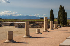 Ruins of the ancient Greek and Roman town Ampurias, near Gerona Stock Photos