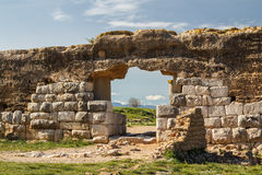 Ruins of the ancient Greek and Roman town Ampurias, near Gerona Royalty Free Stock Photography
