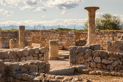 Ruins of the ancient Greek and Roman town Ampurias, near Gerona Royalty Free Stock Images