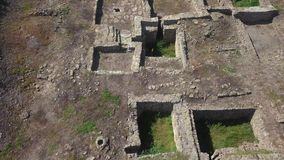 Ruins of Ancient Greek Tanais City in Russia. Archeological Site. Aerial View shot with a DJI Mavic fps 29,97 4k stock footage