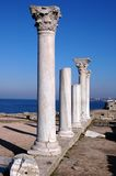 Ruins of ancient greek temple Stock Image