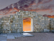 Ruins of an Ancient Greek temple Stock Photos