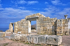 Ruins of an Ancient Greek temple Royalty Free Stock Photos