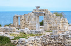 Ruins of an Ancient Greek temple Royalty Free Stock Photography